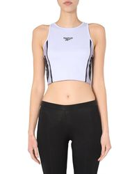 """Reebok - """"electrogen"""" Technical Fabric Top With Logo - Lyst"""