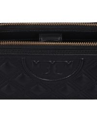 Tory Burch - Mini Fleming Double Leather Bag With Zip - Lyst