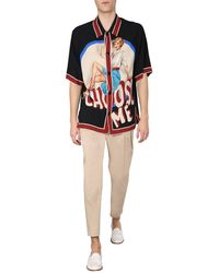 Dolce & Gabbana Cady T-shirt With Pin-up Print - Black