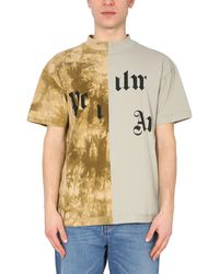 Palm Angels - Military T-shirt With Broken Logo - Lyst