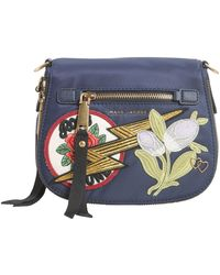 Marc Jacobs Nomad Small Nylon Messenger With Patch - Blue