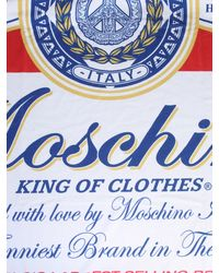 Moschino Budweiser Printed Beach Towel - Blue