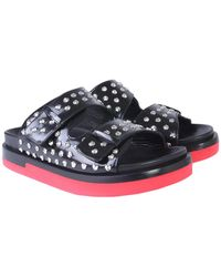 Alexander McQueen Black Studded Double-strap Leather Sandals