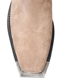 Buttero Dalton Suede Boots - White