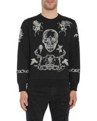 Alexander McQueen - Embroidered Cotton Sweatshirt - Lyst