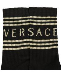 Versace CALZINI CON LOGO 90'S VINTAGE - Nero