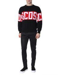 Gcds - Pullover nero con ricamo logo - Lyst