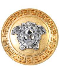 Versace ANELLO CON MEDUSA E GRECA - Metallizzato