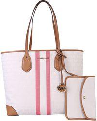 MICHAEL Michael Kors Eva Tote Bag With Logo - White