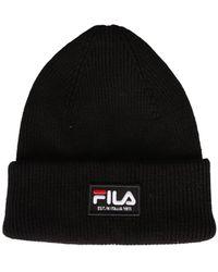 Fila Beanie Hat With Logo Patch - Black