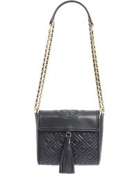 Tory Burch - Fleming Box Crossbody Bag In Quilted Leather - Lyst