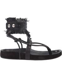 Isabel Marant Eliby Leather Sandals - Black