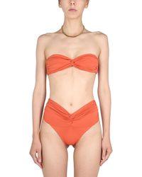LaRevêche Amelie Bikini Set With Draping - Orange