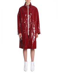 """Isabel Marant CAPPOTTO IMPERMEABILE """"ENSEL"""" - Rosso"""