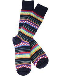 Paul Smith Striped Mixed Cotton Socks - Multicolour