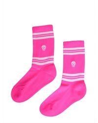 Alexander McQueen Skull Motif Socks Pink
