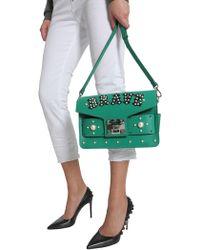 Salar Borsa A Tracolla Ana Brave In Pelle - Green