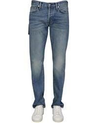 Tom Ford Slim Fit Cotton Denim Jeans - Blue