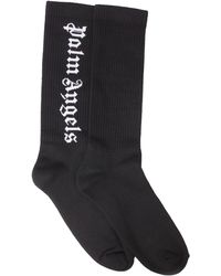 Palm Angels - High Socks With Vertical Logo - Lyst