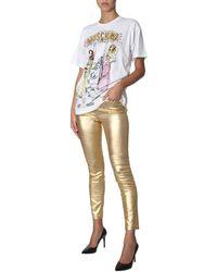 Moschino PANTALONE IN BULL GOLD - Multicolore