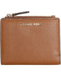MICHAEL Michael Kors Bifold Leather Wallet With Logo - Brown