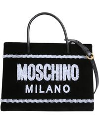 Moschino - Terry-flocked Velvet Tote - Lyst
