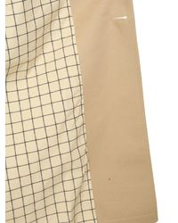 Maison Margiela Double-breasted Cotton Trench - Natural
