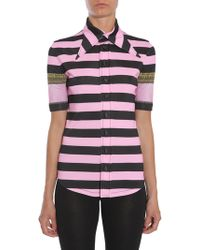 Givenchy - Striped Short Sleeve Shirt - Lyst