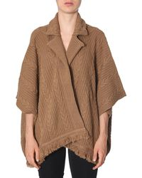 Boutique Moschino Cardigan With Fringes - Brown