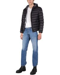 Colmar Sporty Hooded Down Jacket With Logo Patch - Black