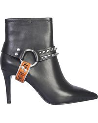 Ash Britney Leather Boot - Black