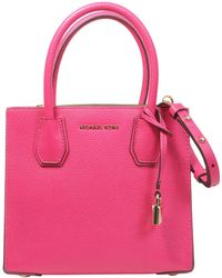 MICHAEL Michael Kors - Mercer Medium Bag In Textured Leather - Lyst