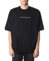 """DIESEL T-SHIRT """"S-MAGGY-SH-COPY"""" OVERSIZE FIT IN COTONE - Nero"""