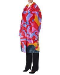 Stella McCartney All Together Now Fur Coat - Multicolour