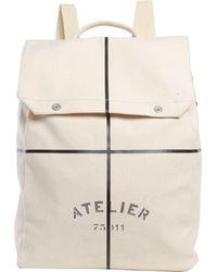 Maison Margiela - Canvas Backpack With Geometric Print - Lyst