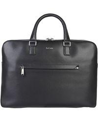 Paul Smith Messenger Leather Bag - Black