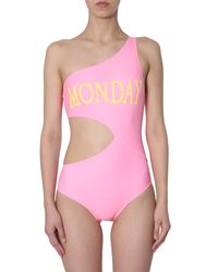 Alberta Ferretti Monday Print Swimsuit - Pink