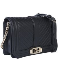Rebecca Minkoff Small Love Crossbody Leather Bag - Black