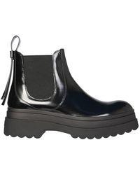 RED V Chelsea Boots - Black