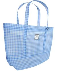 """Opening Ceremony """"gingham Small Chinatown Tote"""" Transparent Bag With Check Pattern - Blue"""