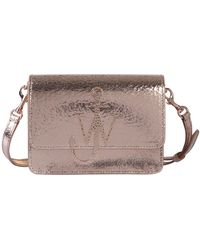 JW Anderson Anchor Logo Crackle Effect Leather Bag - Multicolor