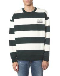 Lacoste Striped Cotton Sweatshirt - Green