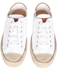 JW Anderson Canvas Trainers - White