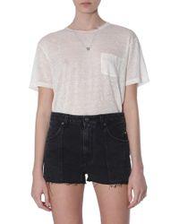 Saint Laurent T-shirt With Sl Heart Necklace - White