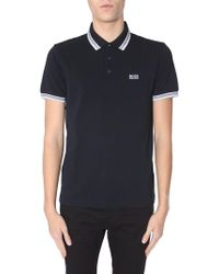"""BOSS Athleisure - """"paddy"""" Cotton Pique Polo With Contrasted Collar - Lyst"""