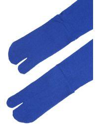 Maison Margiela - Over The Knee Socks With Tabi Toe - Lyst