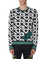 Dolce & Gabbana Logo Mania Knitted Jumper - Multicolour