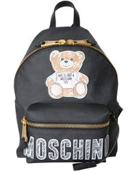 Moschino - Medium Backpack With Brushstroke Teddy Bear Patch - Lyst