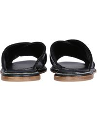 Brunello Cucinelli Braided Leather Sandals With Jewelled Detail - Black