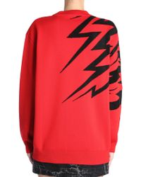 Givenchy Flying Cat Round Collar Jumper - Red